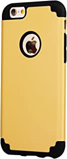 iBarbe iPhone 6/6s Plus Case, Slim fit Hybrid Rubber PC Shockproof Heavy Duty Protection Case with soft Inner Protection Reinforced Hard Bumper Frame for Apple iPhone 6 6s Plus (5.5 inch) phone-gold