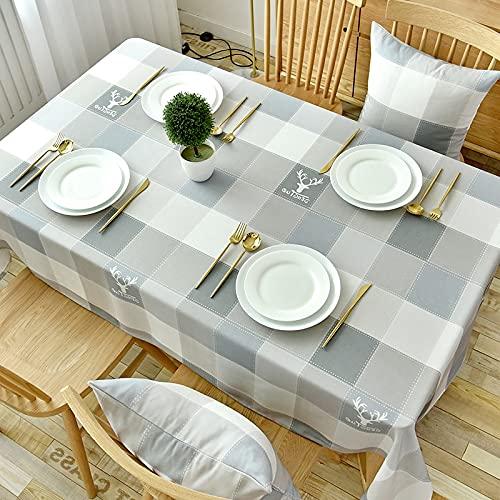 XXDD Mantel nórdico Impermeable, a Prueba de Aceite, sin Lavar, Mantel Resistente al Calor, Escritorio Rectangular decoración de Tela para el hogar A13 140x140cm