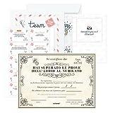 KAÏDENSÏ Giochi Alcolici Addio al Nubilato - Team Bride Gadget e Certificato per la Sposa - Bride to Be Kit - Accessori Scherzi