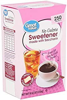 Sweetener with Saccharin Packets, No Calorie, 8.82 oz, 250 Count (1)