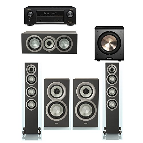 Review Of ELAC Uni-Fi Slim Black 5.1 System with 2 ELAC FS-U5 Floorstanding Speakers, 1 ELAC CC-U5, ...