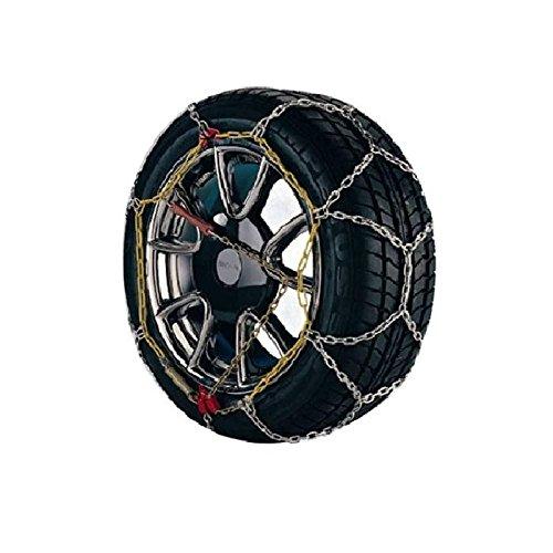 Carpriss 69150070 Cadenas de Nieve de 9 mm de Rombo en Acero y Cable Flexible