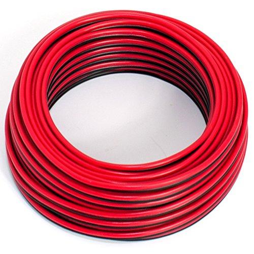 Cable Altavoz, 2x 0,5mm², ColorRojo Negro,10M,CCA