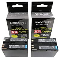 SIXOCTAVE 2個セット BP-970G/BP-975 互換バッテリー [ 純正品と同じよう使用可能 純正充電器で充電可能 残量表示可能 ] キヤノン iVIS アイビス XF305/XF300/XF205/XF105/XF100/XH G1S/XH A1S / XH G1 / XH A1/ XL H1S / XL H1A / XL H1 / XL2/XL1S/XL1/XV2 カメラ用
