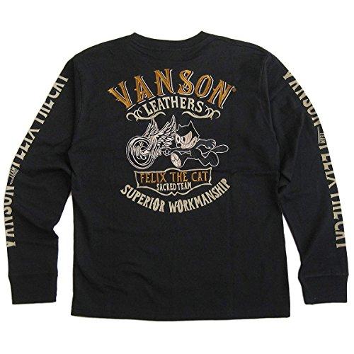 (バンソン)VANSON フィリックス・ザ・キャット(FELIX THE CAT) コラボ メンズ 天竺長袖Tシャツ(ロンT) M
