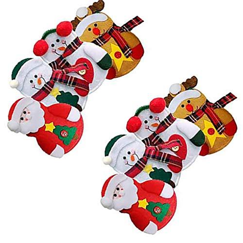 wanzhaofeng Los titulares de Navidad 8PCS Bolsillo Vajilla de Cubiertos Pockets Partido de Navidad de la cuchillería de Casa de los cortadores Cena Forks Bolsas
