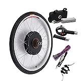 Kit de conversión de motor eléctrico de rueda trasera para bicicleta (48 V y 1000 W),...