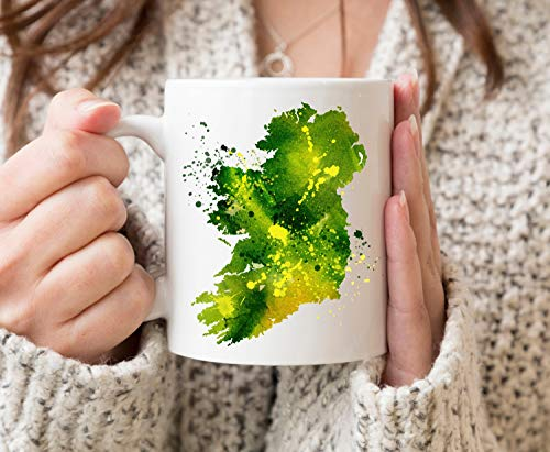 Irland-Tasse mit Irland-Liebhaber-Geschenk, lustige Keramik-Kaffeetasse, weiß, 325 ml