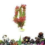 Lidylinashop Plantas de Acuario Plantas Acuario Plantas de pecera útiles Decoración de acuarios Acuario Plantas acuáticas Plantas Tropicales para Acuario 30cm Red