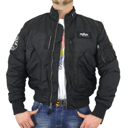 Alpha Industries Herren Piloten Jacke Engine black - XL
