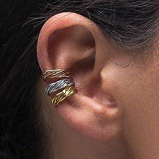 Juego de 3 puños de oreja no piercing, regalo no perforados puños de oreja de oro rosa puños, puños de plata, abrigos de oreja de oro rosa, brazaletes de oído minimalista