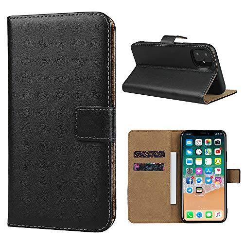Étui en cuir Smart Fit Sport pour iPhone - Étui portefeuille en cuir SFS pour iPhone X/XS 4/4S 5/5S 5C 6/6s 6 Plus 7/8 7 Plus/8 Plus 8 Plus, cuir, Noir , For iPhone 5C
