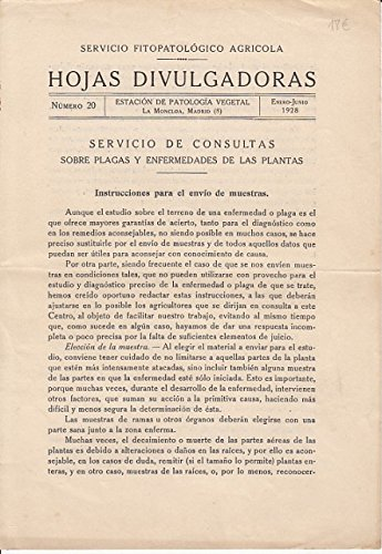 HOJAS DIVULGADORAS: SERVICIO DE CONSULTAS SOBRE PLAGAS Y ENFERMEDADES DE LAS PLANTAS