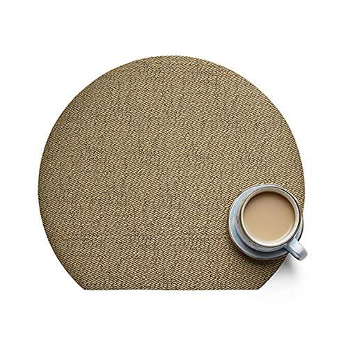 Koffiekopjes onderzetter 2/4/8 stuks antislip pla mat servetten op de individuele mat voor decoratieve doek Disc Pads Bowl Coaster 8PCS 2