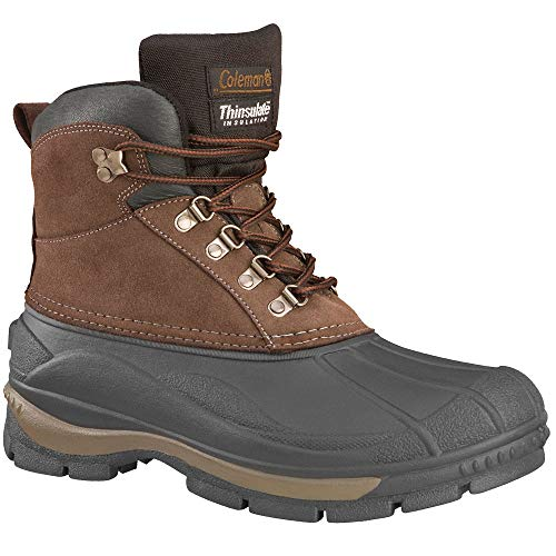 Coleman Men's Glacier Mid Lace Up Shell Boots Brown 13
