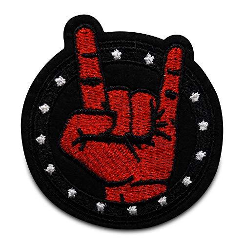 Finally Home Rock Musik Band Finger Bügelbild Patch zum Aufbügeln | Patches, Aufbügelmotive