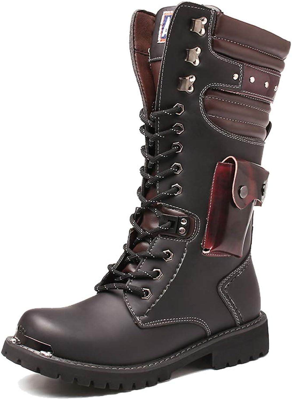 WARM ROOM Herren-Reproduktion Herren-Reproduktion Herren-Reproduktion Lederschuhe Lace-Boots, Men ' s Knight Boots, Roman Casual Cowboy Boots erhöhte Long Tube Tassel Boots B07KYH9QK1  fc7401