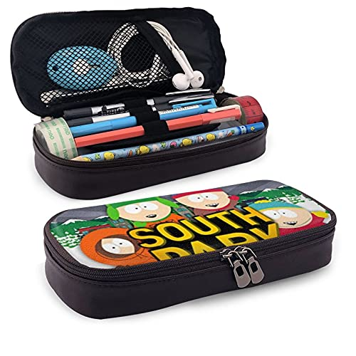 Estuche multifunción para lápices de piel South Park 1 bolsa de papelería bolsa de oficina portátil kit de almacenamiento cosmético caja titular