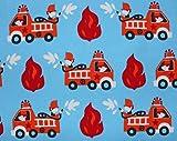 Glünz Jersey Feuerwehr blau / 0,5m / Kinderstoff / 15,60