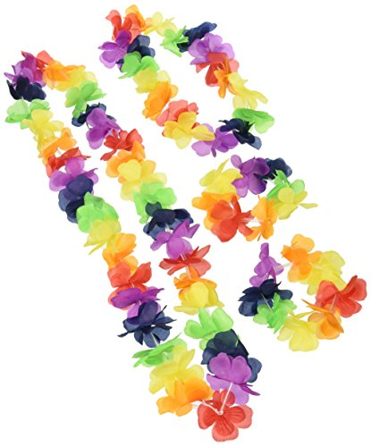 Unique Party- Ensemble de Guirlande Hawaïenne en Tissu, 19160, Multicolore