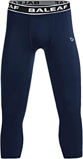 Youth Boys' Compression Pants 3/4 Leggings Sports Tights Football Basketball Baselayer