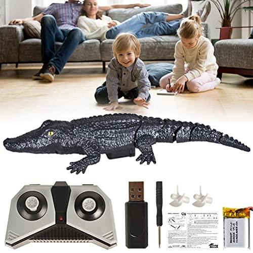 Barco RC, Control Remoto 2.4G Simulación de cocodrilo Mini Barco el Control Remoto Animal Toy RC Cocodrilo Parodia de Juguete Carga USB
