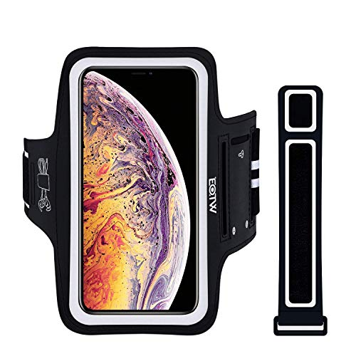 Funda de Movil para Correr EOTW Brazalete Deportivo Compatible con iPhone X/XS MAX/iPhone 11/Pro/Pro MAX, Brazalete Movil con Extensión Bueno en Correr Ciclismo Deportes