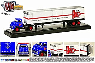 1957 Dodge COE and B&M Trailer (14-05) M2 Machines * Auto-Haulers Release 11 * 2014 Castline Premium Edition 1:64 Scale Die-Cast Vehicle Set (1 of only 5,000 pieces)