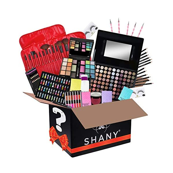 SHANY Gift Surprise – AMAZON EXCLUSIVE – All in One Makeup Bundle – Includes Pro Makeup Brush Set, Eyeshadow Palette…