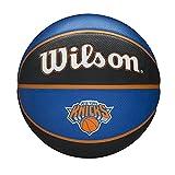 Wilson Pelota de baloncesto NBA TEAM TRIBUTE, NEW YORK KNICKS, Exterior, Caucho, Tamaño: 7