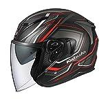 オージーケーカブト(OGK KABUTO) バイクヘルメット ジェット EXCEED CLAW(クロー) フラットブラック (サイズ:L) 581596