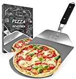 Momex Pizzaschieber Edelstahl für den Grill & Ofen, Pizzaschaufel mit praktischen Einklapp-Griff zum einfachen Verstauen