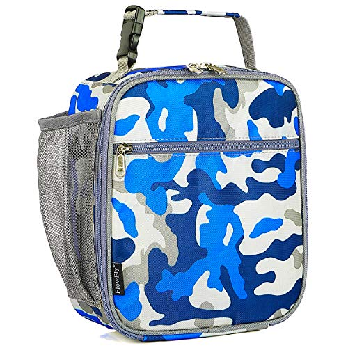 Kids Lunch box Insulated Soft Bag Mini Cooler Back to School Thermal Meal Tote Kit for Girls, Boys by FlowFly,Camo