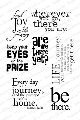 Impression Obsession IO Joy In The Journey Clear Cling Stamp Set CL387