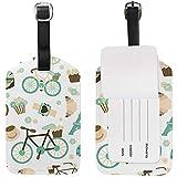 Etiquetas de Equipaje para Bicicleta, Etiquetas de Bolsa Etiquetas de identificación de Viaje para Maletas de Equipaje