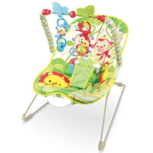 NXYJD Mecedora eléctrica para bebés, vibrador vibratorio de música multifunción, Mecedora para niños, Juguete reclinable (Color : B)