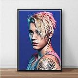 JIUJIUJIU Leinwand Malerei Justin Bieber Sänger Musik