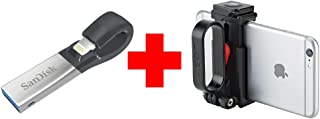 SanDisk iXpand 32 GB and JOBY GripTight POV Kit Smartphone Video Bundle for Apple/Android Smartphones.