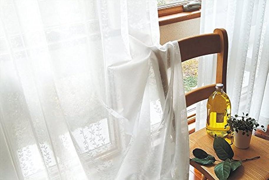 気まぐれなクリープ利得東リ 光にかざすと瑞々しい葉柄 カーテン1.5倍ヒダ KSA60485 幅:150cm ×丈:200cm (2枚組)オーダーカーテン