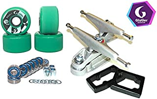 Glutier Surfskate Trucks T12 70mm 83a Green...