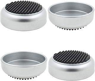 Lifeswonderful® - Juego de 4 vasos de goma con base de ruedas antideslizantes para proteger tus suelos y evitar que los mu...