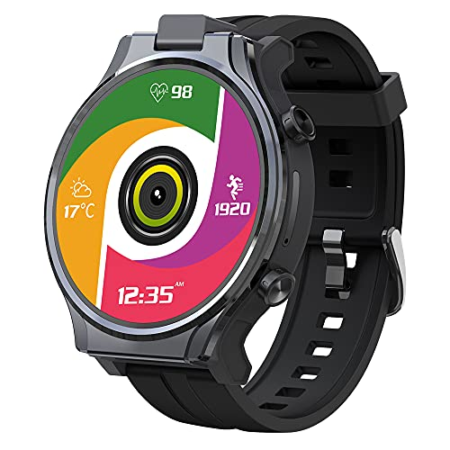 KOSPET Smart Watch for Men, Face ID Unlock Smartwatch with 1260mAh Battery, 4G LTE with 1.6' Full Touch Screen, GPS Android Smartwatch with Dual Camera, Compatible with Android iOS, 3G RAM 32GB ROM