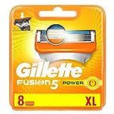 Gillette Fusion Power - Cuchillas de recambio de maquinilla de afeitar - 8 unidades