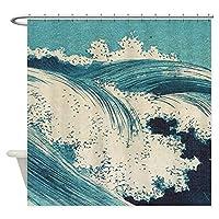 フック付きバスルーム用シャワーカーテンユニークな装飾ポリエステル防水シャワーカーテン-180x180cm