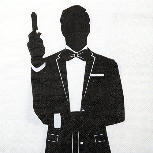 Servietten Special Agent, 33x33 cm, 10 Stück