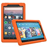 MoKo Nuevo Amazon Fire HD 8 2018 & 2017 Funda - Lightweight Cubierta Shockproof Cover Case Esquina Silicona Protector Parachoques para All-New Fire HD 8 Tablet, Naranja