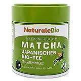Matcha-Tee-Pulver-Bio [ Ceremonial Grade ] Original Green Tea aus Japan. Grüntee-Pulver Matcha Zeremonie-Qualität, hergestellt in Uji, Kyoto. Ideal zum Trinken, Kochen und in der Latte. 30g Dose.