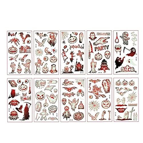Halloween tijdelijke tatoeages, kinderen lichtgevende dag van de dode kunstmatige tattoo-sticker Maak meerdere patronen…