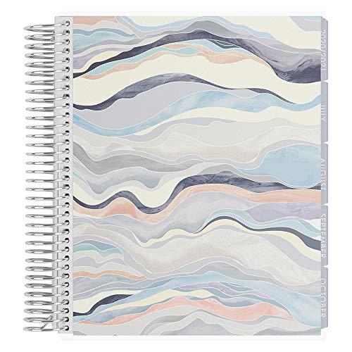 Erin Condren 18 Monate 2020-2021 Spiralplaner (Juli 2020-Dezember 2021), Layers Neutral Cover, Vertikal Wochenübersicht, Layers Neutral Interior Design