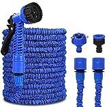 VAGAV Tuyau d'arrosage, 100FT 30m Tuyau d'eau,Extensible Flexible Elastique Rétractable avec 7 Fonction Pistolet,uyau d'arrosage pour Nettoyage Maison, Jardin, Terrasse et de la Voiture (Bleu)